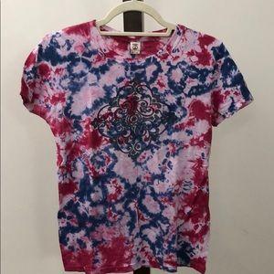 Lucky brand T-shirts tie dye and mandala pattern